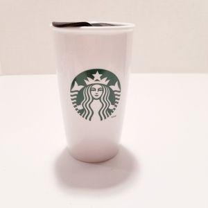 Starbucks Ceramic Coffee Tumbler with Lid 12oz